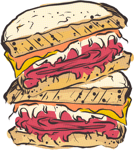 reuben sandwiches illustration