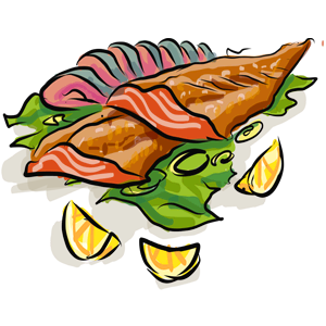 smoked fish illustration