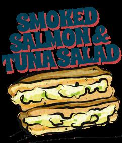 Smoked salmon & tuna salad