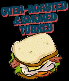 Oven-roasted & smoked turkey